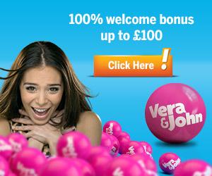 Vera & John welcome bonus