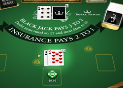 Blackjack table Royal Panda