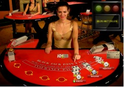 Live blackjack dealer