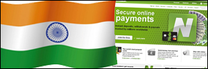Indian flag on Neteller website