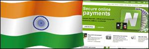 Indian flag on Neteller website