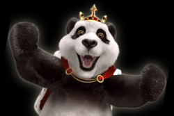 Cheering Royal Panda