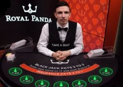 Royal Panda Live Blackjack tafel
