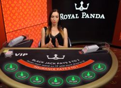 Royal Panda Live Blackjack VIP