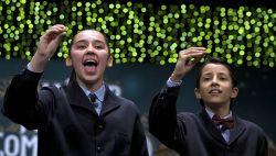 Spain's lottery singing children