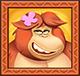 Wild monkey orangutan
