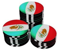Poker chips Mexico