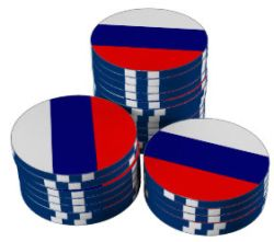 Poker chips Russia